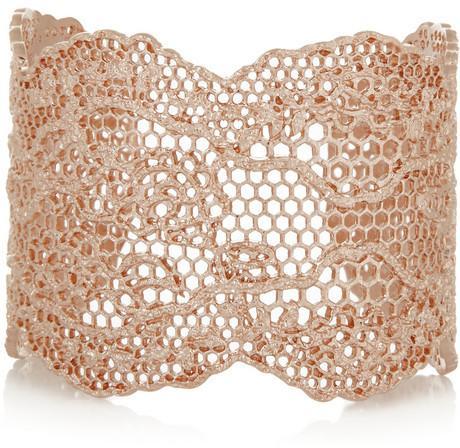 Hochzeit - Aurélie Bidermann Vintage Lace rose gold-plated cuff