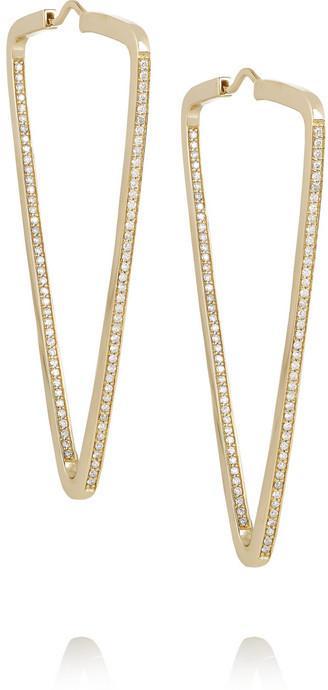 Mariage - Lynn Ban 14-karat gold diamond earrings