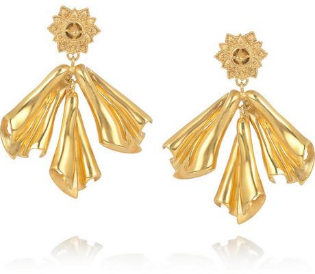 Свадьба - Sophia Kokosalaki Gold-plated silver drop earrings