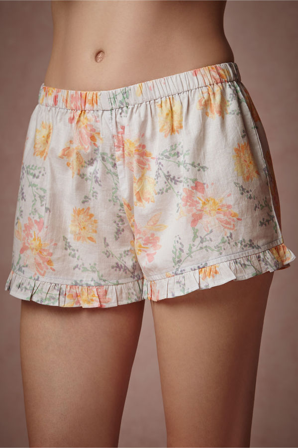 Mariage - Watercolor Blooms Shorts