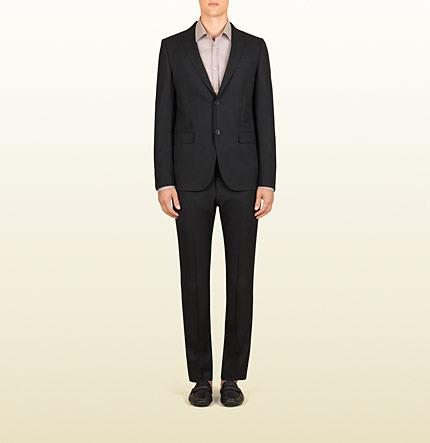 Свадьба - Men's Black Wrinkle Free Wool Dylan Suit From Viaggio Collection