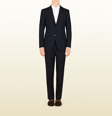 Mariage - Dark Blue Cotton Mohair Brera Suit
