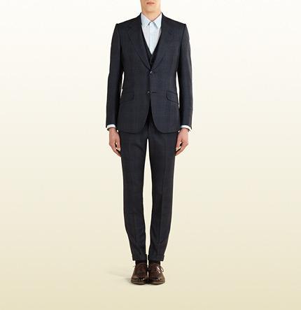 Hochzeit - Blue Grey Wool Check Heritage Suit
