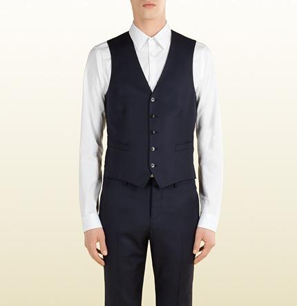 Hochzeit - Dark Blue Wool Vest