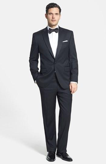 Свадьба - David Donahue Classic Fit Loro Piana Wool Tuxedo