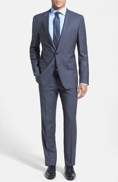 Свадьба - BOSS HUGO BOSS 'Huge/Genius' Trim Fit Microcheck Suit