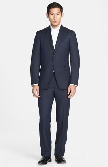 Свадьба - Z Zegna Trim Fit Navy Tic Weave Wool Suit