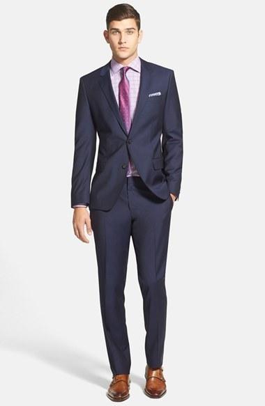 Свадьба - BOSS HUGO BOSS 'Huge/Genius' Trim Fit Navy Wool Suit