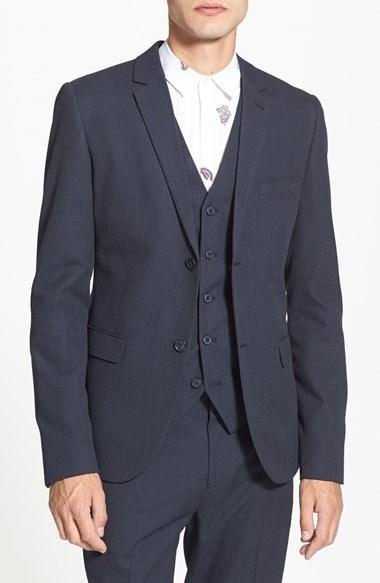 Свадьба - Topman Navy Pin Dot Skinny Fit Suit Jacket
