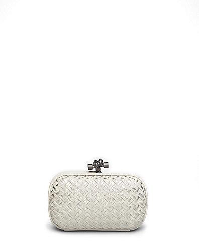 Hochzeit - Bottega Veneta Woven Metallic Mini Knot Clutch