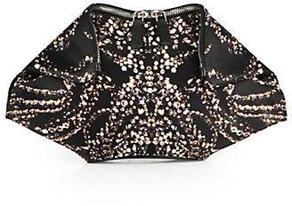 Hochzeit - Alexander McQueen Jeweled Silk Satin Clutch