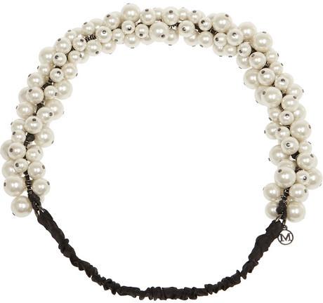Hochzeit - Maison Michel Astrid faux pearl headband