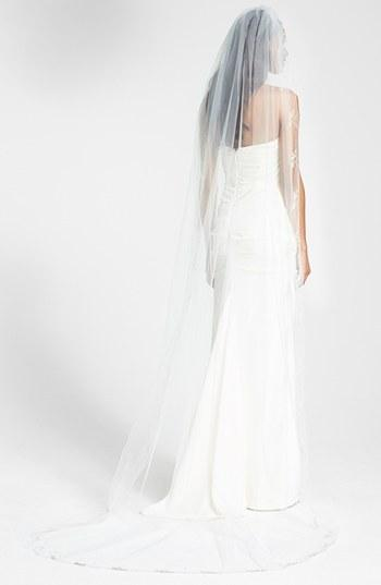 Mariage - WEDDING BELLES NEW YORK 'Chanson' Embroidered Cathedral Veil