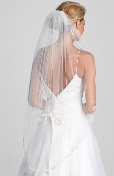 Mariage - WEDDING BELLES NEW YORK 'Mary Kate' Embroidered Veil