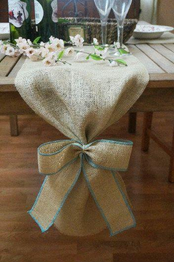 Genial Burlap Table Runner, Plain With Burlap Bow, Colored Thread, Rustic Wedding,  Wedding Table Runner, Party Decoration, Custom Length Available