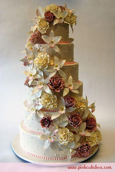 Wedding - How To Enhance Your Cake With Sugar Flowers » Pink Cake Box