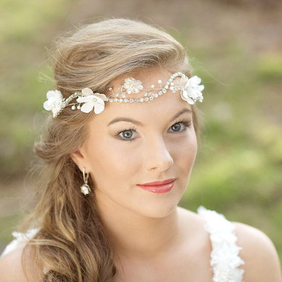 Flower Wedding Headpieces: Wedding Bridal Hairpiece Vine Wreath, Halo Fascinator