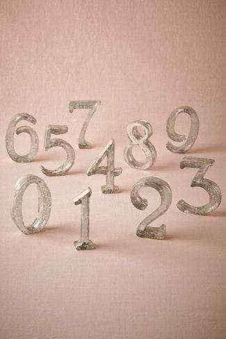 Mariage - Mercury Glass Table Numbers