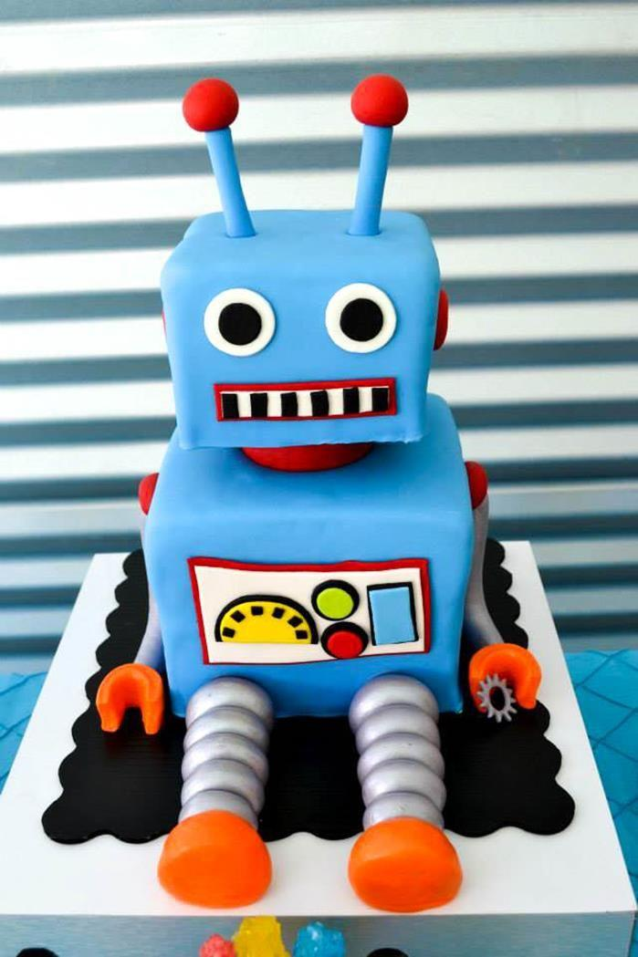 Robot Birthday Party Ideas Supplies Idea Cake Planning