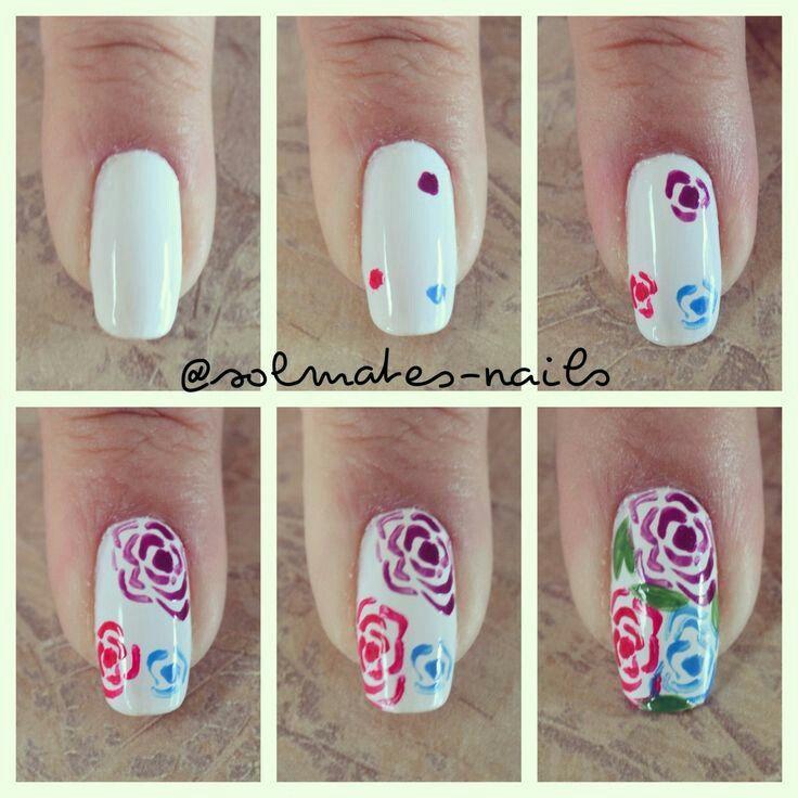 Как нарисовать на ногтях в домашних условиях цветы