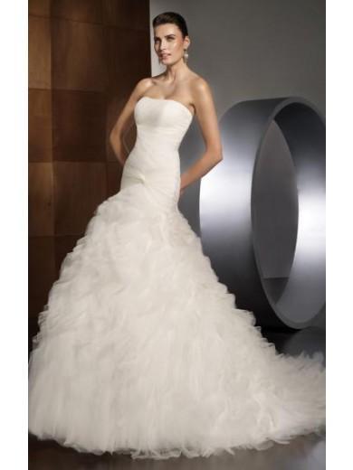 Свадьба - Organza Vintage Long Wedding Dress Cheap 2014
