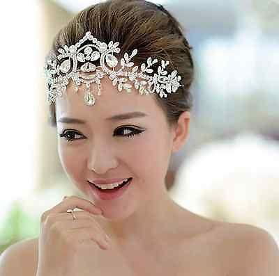 Mariage - WEDDING BRIDAL ART DECO BRIDE HEAD RHINESTONE CRYSTAL HAIR CHAIN TIARA CROWN