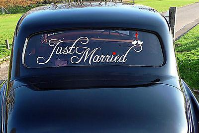 Cling Decals Wedding Car Cling Decal