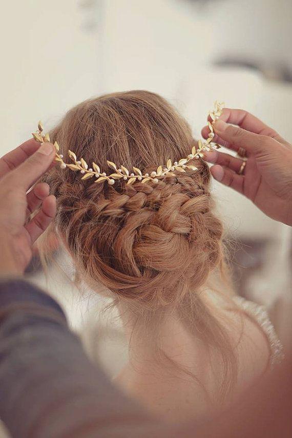 hair-accessories-brides-headpieces-gentle-gold-leafs-hair-wreath-gold