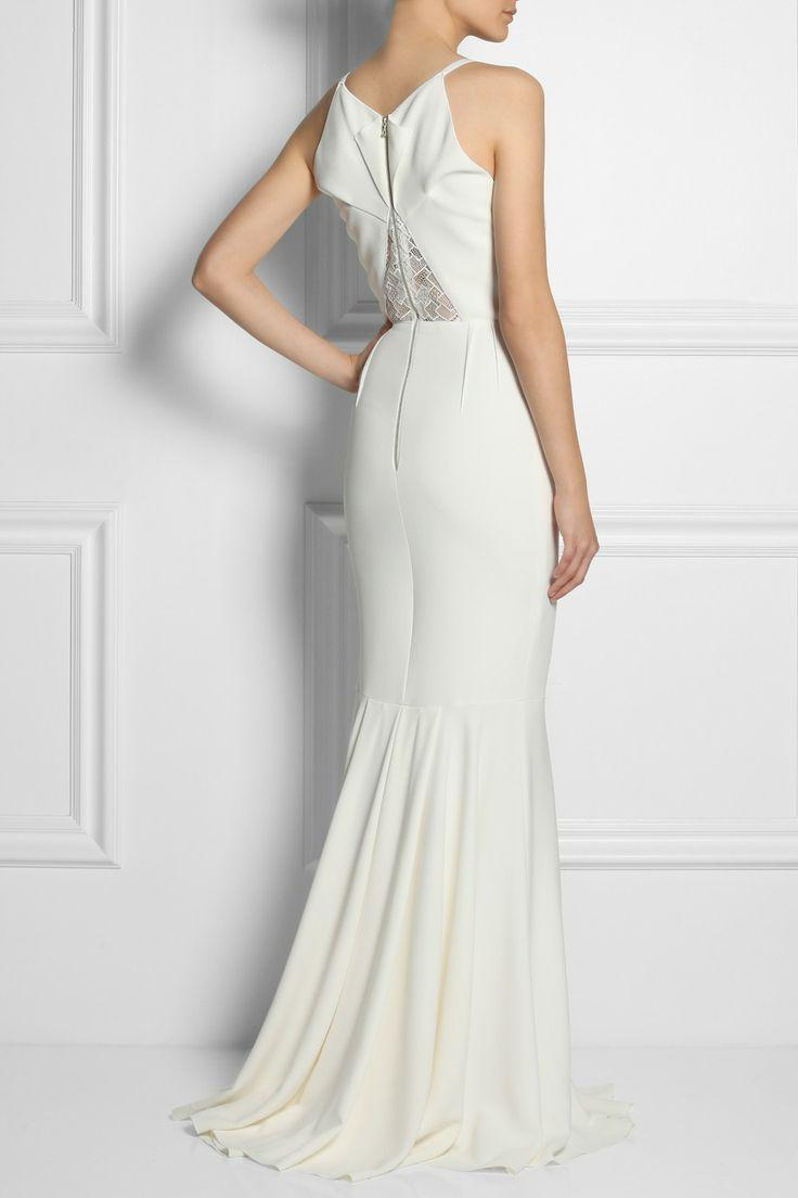 Wedding - Mirah Lace And Stretch-crepe Fishtail Gown