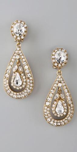 Свадьба - Antique Drop Earrings(new)