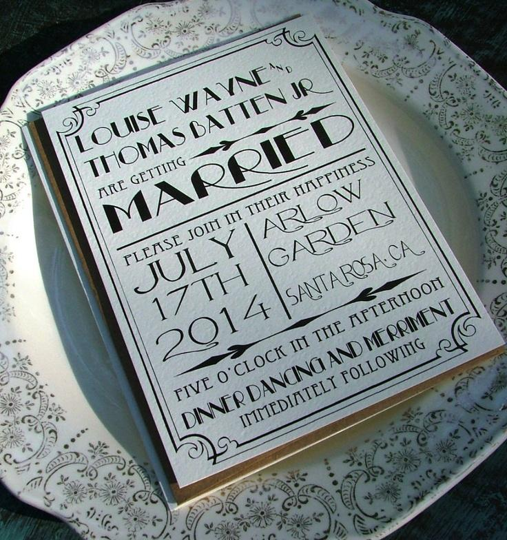 Wedding Invitations Great Art Deco Hollywood 2159104 Weddbook
