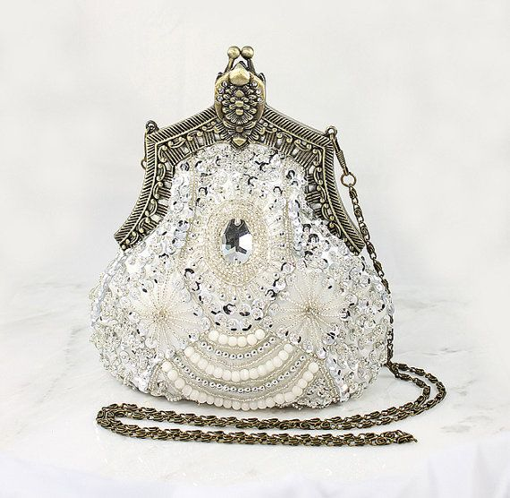 art deco bridal clutch old hollywood evening bag handbag