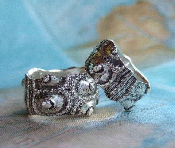 alternative wedding rings handmade fine silver wedding bands eco friendly gift set natural history jewelry custom silver rings