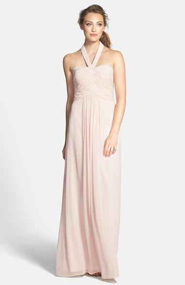 4176ba36eed82 ML Monique Lhuillier Bridesmaids Convertible Chiffon Halter Gown ...