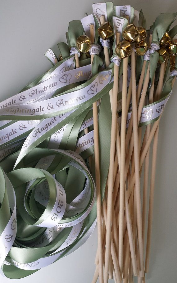 Set Of 50 Personalized Bride Wedding Colors Sticks With