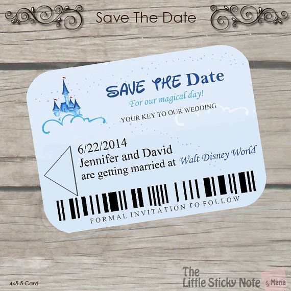 When Should Save The Dates Be Sent: Disney Save The Date #2159649