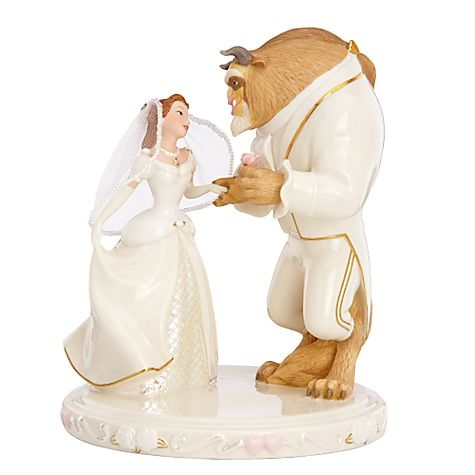 Свадьба - Lenox Disney Beauty & The Beast Belle's Wedding Dreams Cake Topper Figurine
