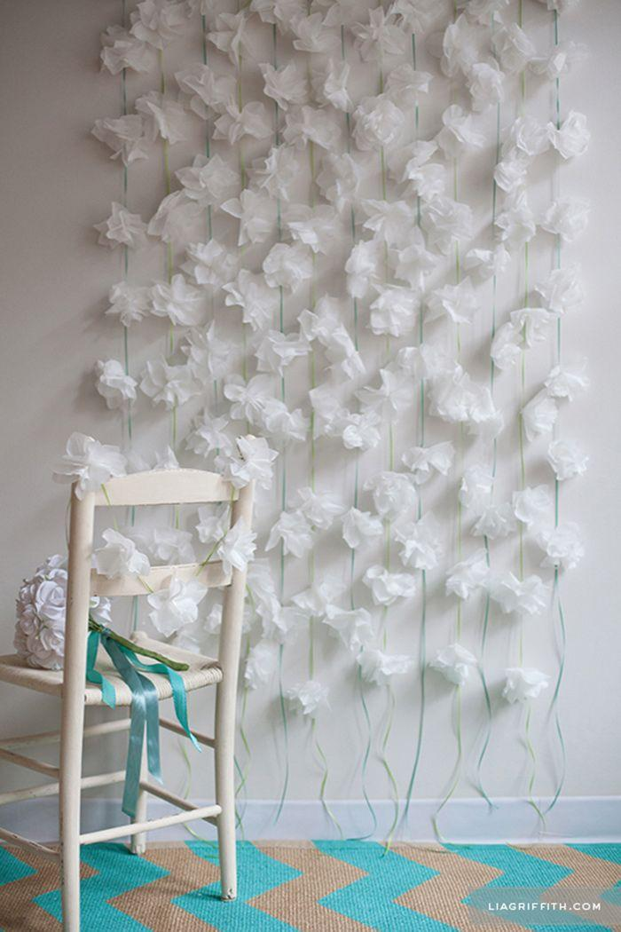 زفاف - DIY Paper Flower Backdrop Tutorials