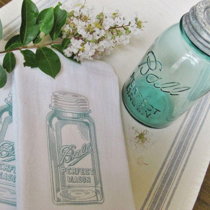 Mariage - Easy Mason Jar Tea Towels