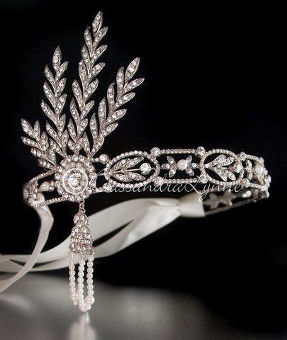Wedding - Great Gatsby Wedding Headpiece With Rhinestones And Pearls