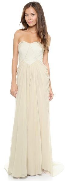 Wedding - Badgley Mischka Collection Bustier Drape Gown