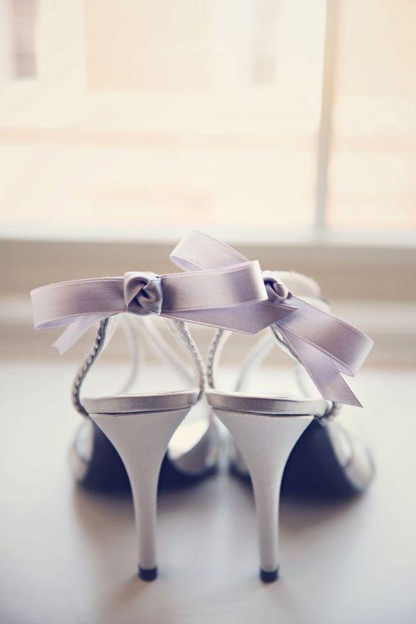 Mariage - Elegant Silver Bridal Heels