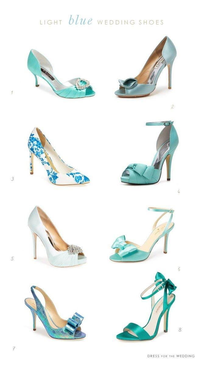 Wedding - Light Blue Wedding Shoes