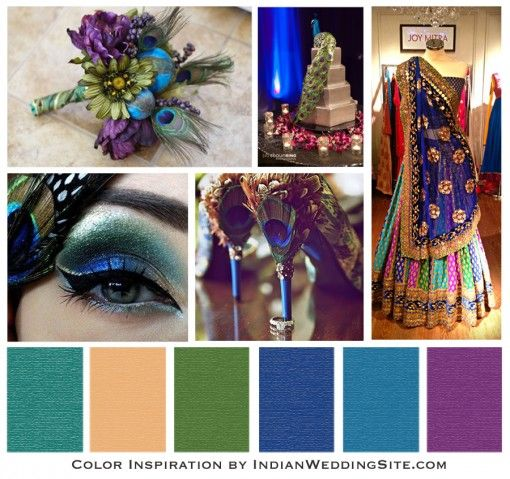 زفاف - Indian Wedding Color Inspiration - Peacock Wedding Reception - Indian Wedding Site Home - Indian Wedding Site - Indian Wedding Vendors, Clothes, Invitations, And Pictures.