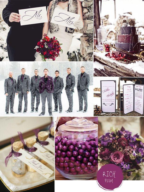 Purple hues for winter wedding color ideas and bridesmaid dresses purple hues for winter wedding color ideas and bridesmaid dresses 2014 junglespirit Images