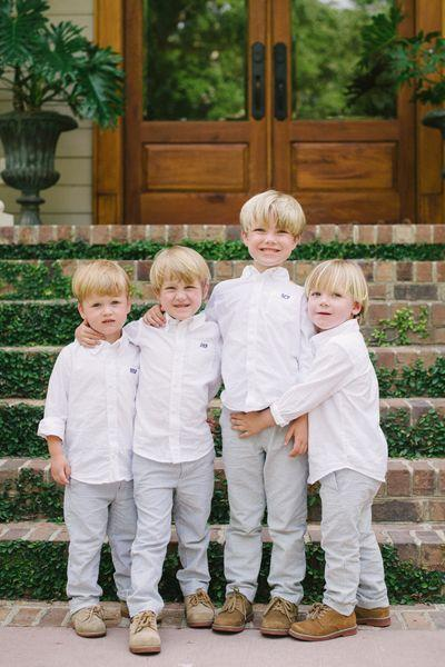 Wedding - Groom, Groomsmen And Ring-Bearers