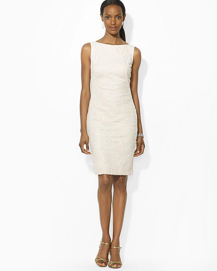 Lauren Ralph Lauren Dress Soutache Matte Jersey 2161177 Weddbook