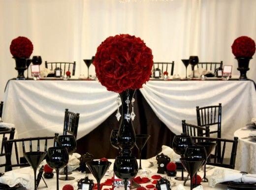 Gotische Hochzeit Gothic Inspired Wedding In Black And Red