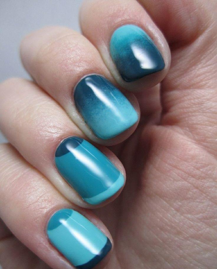Easy Nail Art Using Tape: Monochromatic Nail Art Using Scotch