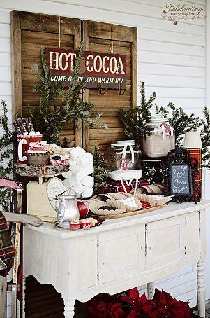 Hochzeit - Front Porch Hot Cocoa Party